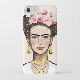 Frida on Soft Pink iPhone Case