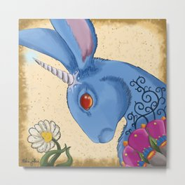 Unicorn Bun Metal Print