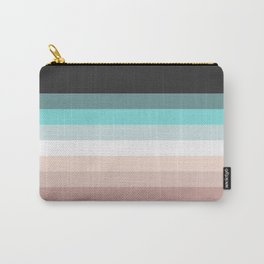 Charcoal, blue and pink pastel blend Carry-All Pouch