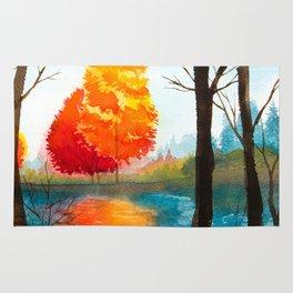 Autumn scenery #7 Rug