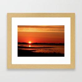 Block Island New Harbor Sunrise Framed Art Print