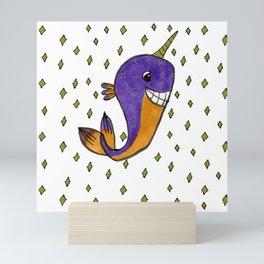 Narwhal Mini Art Print