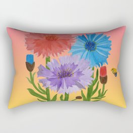 Sunset Cornflowers Rectangular Pillow