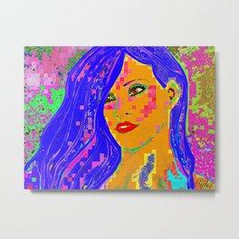 Rhiana Pop Art Metal Print