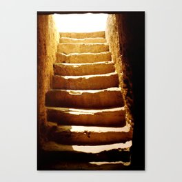Steps to tomb Canvas Print