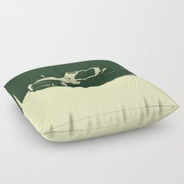 MGB, Racing Green on Cream Floor Pillow