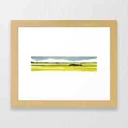 Canola Prairie Framed Art Print