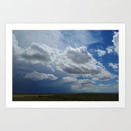 Mixed skies in Montana Art Print