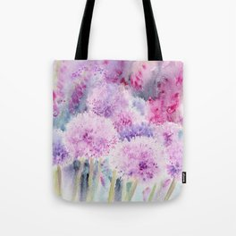 Alliums and Foxgloves Tote Bag