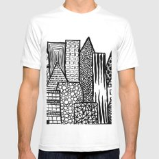 Where Are You Today? Mens Fitted Tee MEDIUM White