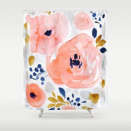 Genevieve Floral Shower Curtain