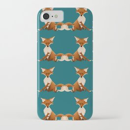 Fox Family Day Out iPhone Case