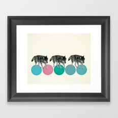 Hungry Wolves Framed Art Print