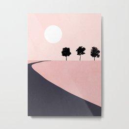 Pink Sunny Field II Metal Print