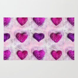 Pink Passion colorful heart pattern Rug
