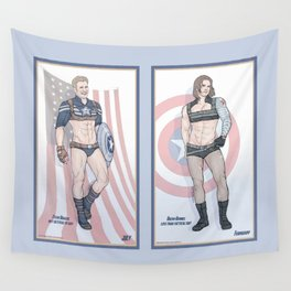 Steve Rogers and Bucky Barnes Calendar Boys Wall Tapestry