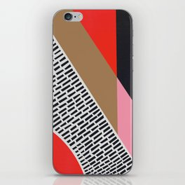 Pink Gold Red Abstract iPhone Skin