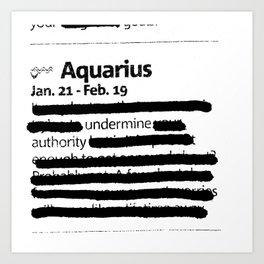 Aquarius 1 Art Print