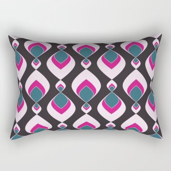 Multi-colored pattern . Rectangular Pillow