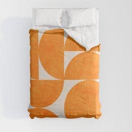Geometric Shapes orange mid century Comforters