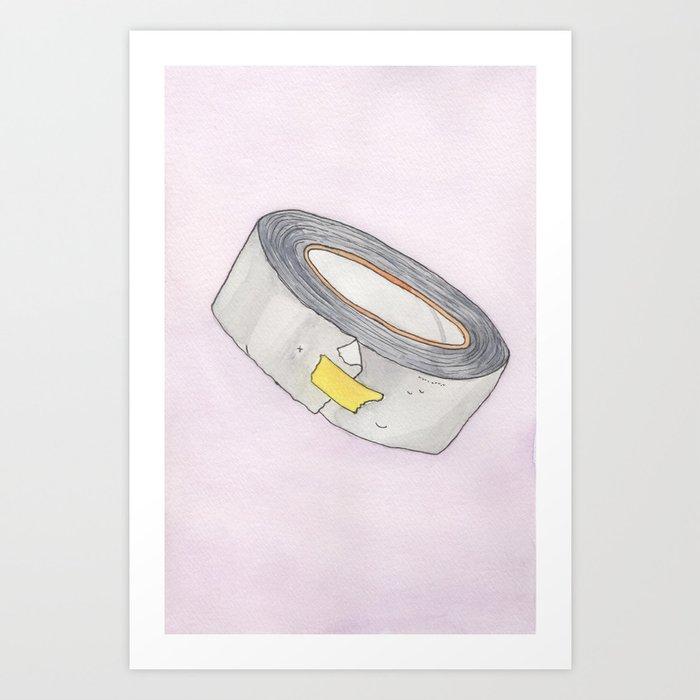 Duct Tape Watercolor Art Print