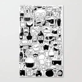 Potions, Poison, and Spirits Canvas Print