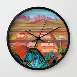 Desert Town Wall Clock