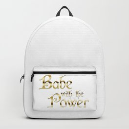 Labyrinth Babe With The Power (white bg) Backpack