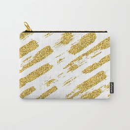 Gold glitter brush print Carry-All Pouch