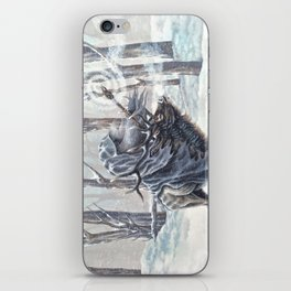 Wizard Riding an Elk in the Snow iPhone Skin