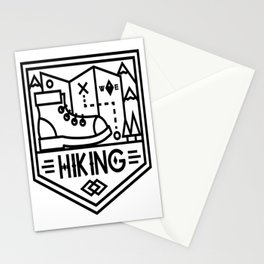 Hiking map Stationery Cards