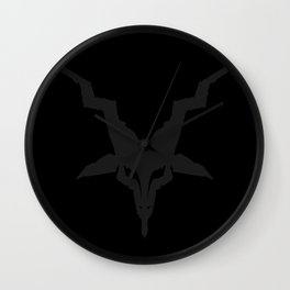 Black Metal Baphomet Wall Clock