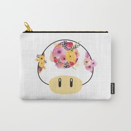 Toad in Bloom - White Background Carry-All Pouch