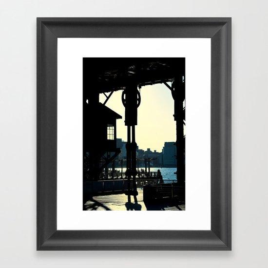 Long Island Pier Framed Art Print