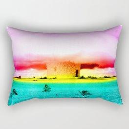 atomic sunset Rectangular Pillow