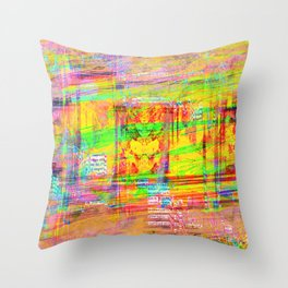 The False God of Glitch Throw Pillow