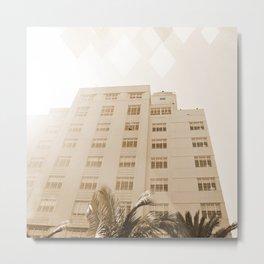 Beach hotel Metal Print