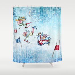 Hideout in the mountains Shower Curtain