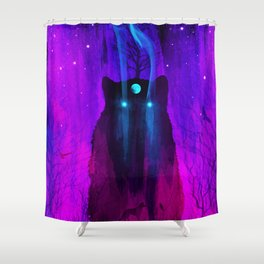 God of Wolves: Neon Flux Shower Curtain
