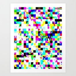 Data Mosh  Art Print