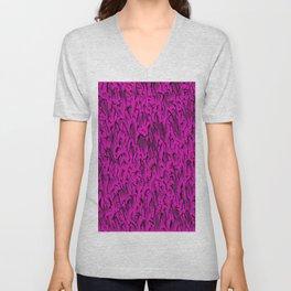 Gaudy abstract, hot magenta Unisex V-Neck