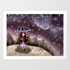 Can it rain forever? Art Print