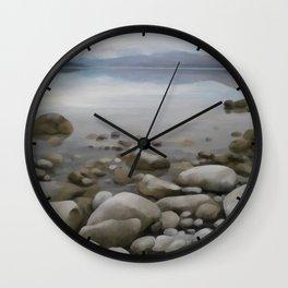Stone on stone, lake Wall Clock