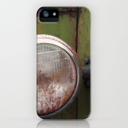 headlight and green rust iPhone Case