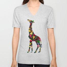 Animal Mosaic - The Giraffe Unisex V-Neck