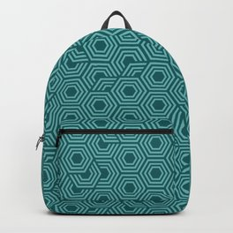 Blue and Teal Hexagon Honeycomb Backpack