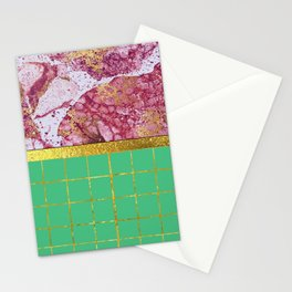 Amethyst Gold Marbled Tile Stationery Cards