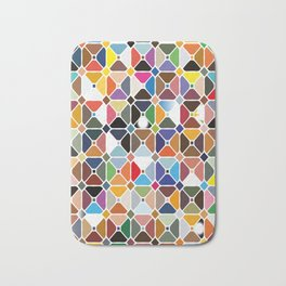 Multicolore geometric patterns with octagon shapes Bath Mat