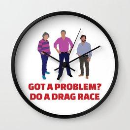 Got a Problem? Do a Drag Race Wall Clock