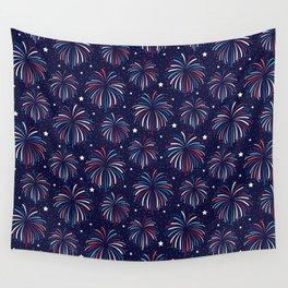 Star Spangled Night Wall Tapestry